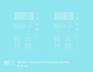 K4 S Decals Tennessee Alabama and Georgia 40 Ft Boxcar Yellow TAG Route