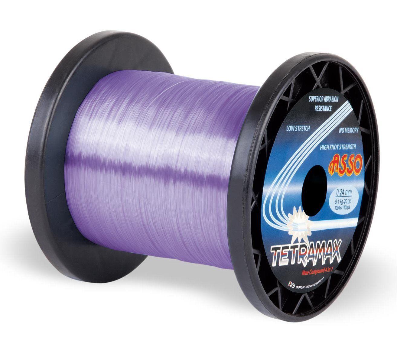 ASSO Tetramax Mono lila 1000m, Karpfenschnur, Raubfischschnur Raubfischschnur Raubfischschnur d93251