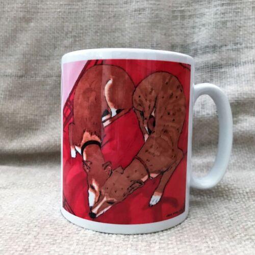 Mug Lévrier Lurcher Whippet correspondants russes Original Boisson Tasse Lave-vaisselle tasse
