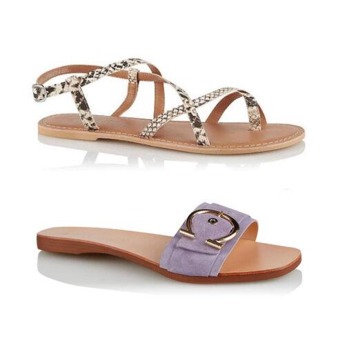 Ex Store Femme Cuir Daim Sandales Boucle Taille 7 8 9