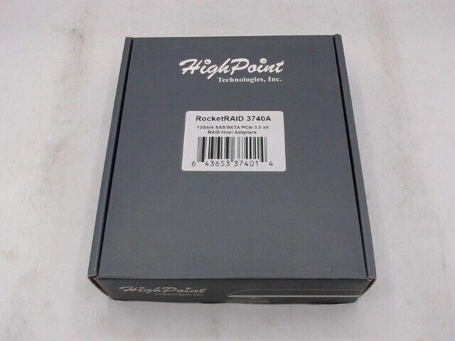 HighPoint RocketRaid 3740a 12Gb/s PCIe 3.0 x8 Sas/Sata Host Bus - Open Box