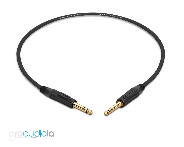 Mogami 2549 Headphone ExtensionNeutrik Gold TRS to TRS FemaleBlack 15 Feet
