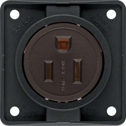 BERKER Schuko-Prise de courant m3862632503 Nema Noir Mat