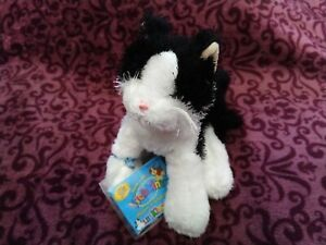 WEBKINZ-LIL-039-KINZ-BLACK-AND-WHITE-CAT-NEW-WITH-CODE-PLUSH-SOFT-TOY
