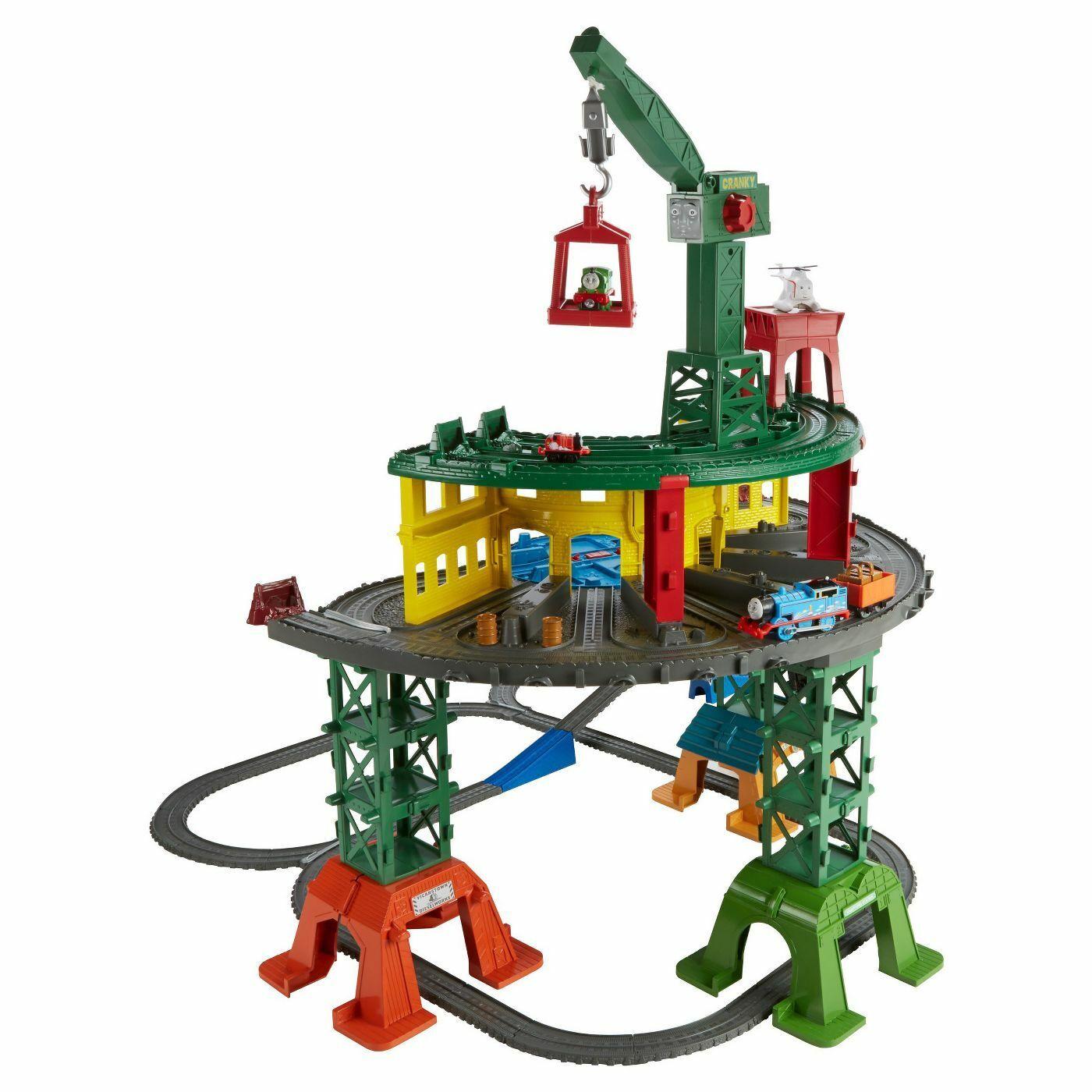 NIB Thomas & freunde SUPER TRAIN STATION ONE SET Mini Adventures WOOODEN