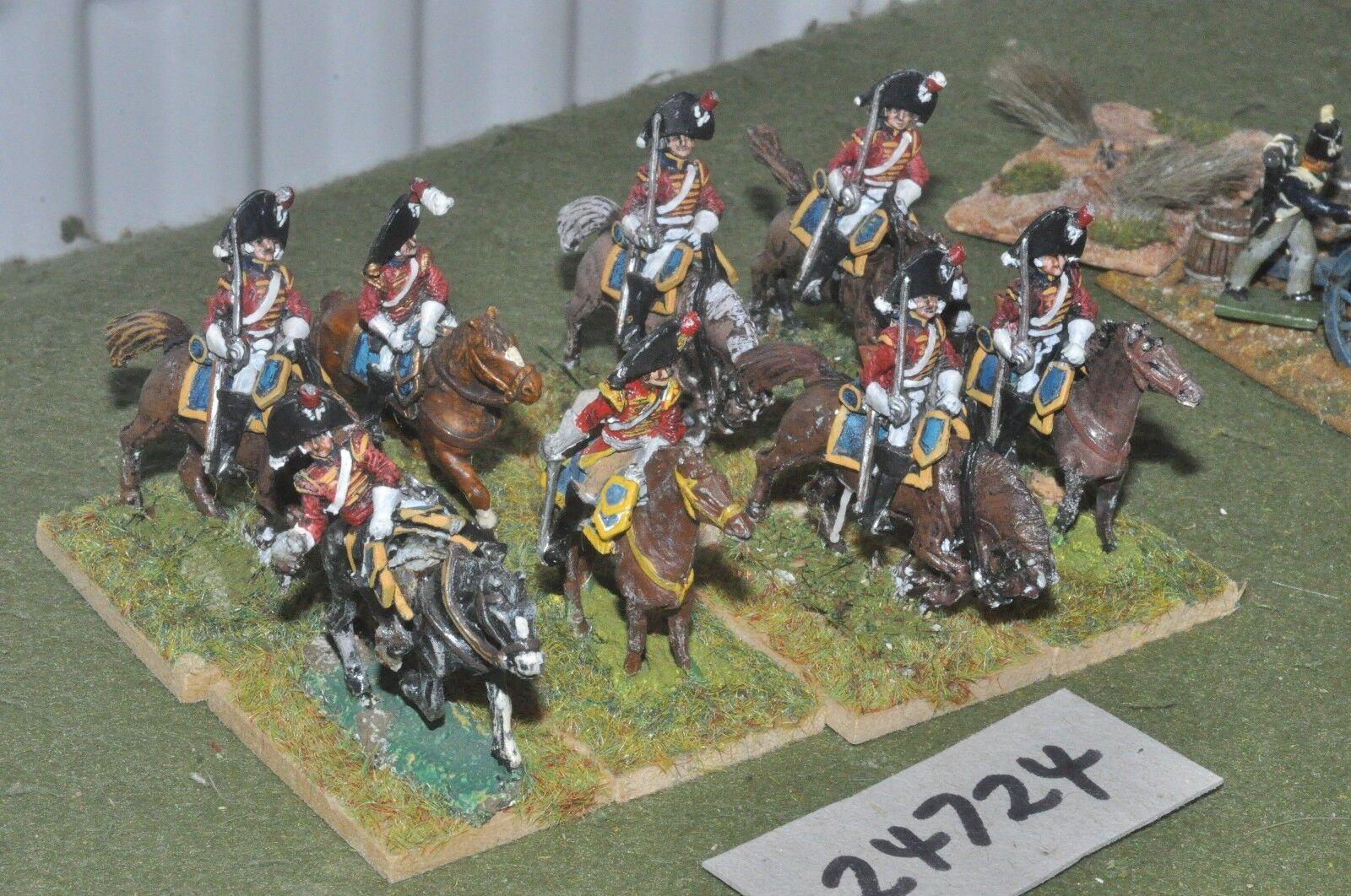 25mm napoleonic   british - dragoons 8 figures - cav (24724)