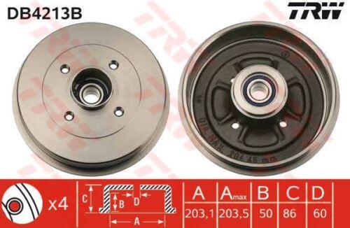 DB4213B TRW Bremstrommel Hinterachse