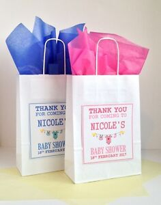 Image Is Loading Personalised Baby Shower Gift Bag Vintage Style Favour