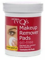 Andrea Eye Q's Eye Make-up Remover Pads Oil-free 65 Each (pack Of 3) on sale