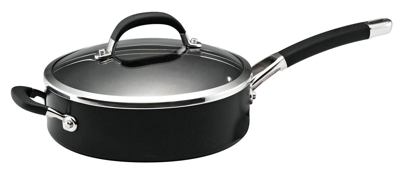 Circulon Premier professionnel couverts Saute Pan, Dur-Aluminium Anodisé, Blac...