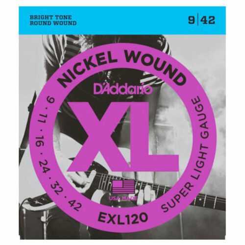 DAddario EXL120 Saiten für E-Gitarre Super Light 9-42 3 SETS