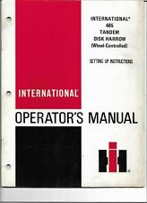 International Harvester Ih 485 Tandem Disk Harrow Operators Manual Original 1978
