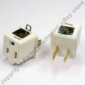 Lot4-2to3-prong-110V-AC-outlet-ground-grounding-power-cord-wire-cable-adapter-G
