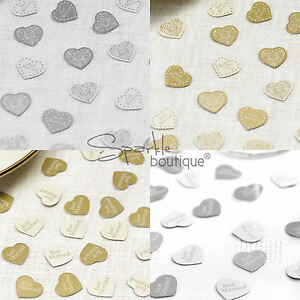 Image Is Loading Luxury Wedding Table Confetti Just Married Hearts Sprinkles
