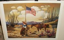 "CHARLES WYSOCKI ""LOVE LETTER FROM LARAMIE"" SIGNED LIMITED EDITION LITHOGRAPH"