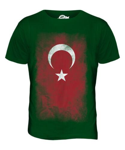 TURKEY FADED FLAG MENS T-SHIRT TEE TOP T?RKIYE FOOTBALL TURKISH GIFT SHIRT