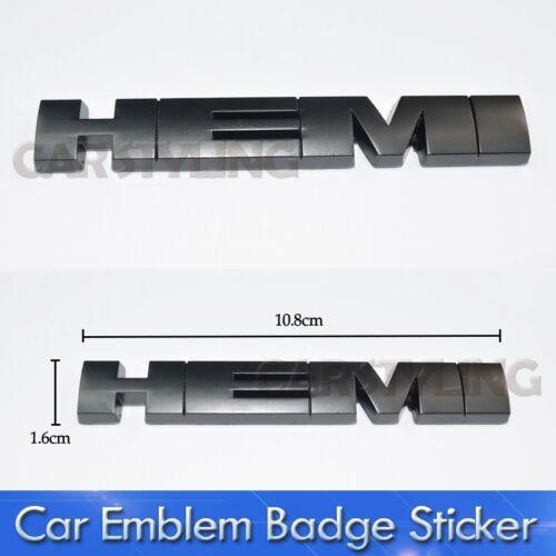 Black HEMI 3D Metal Logo Car Sticker Badge Emblem Decal Car Styling