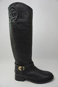 ba509c4f236a Image is loading Tory-Burch-Marlene-Black-Riding-Boot-Zipper-Leather-