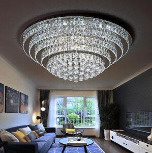 LED-Runde-Fernbedienung-K9-Kristall-Deckenlampen-Kronleuchter-Beleuchtung-Lampe
