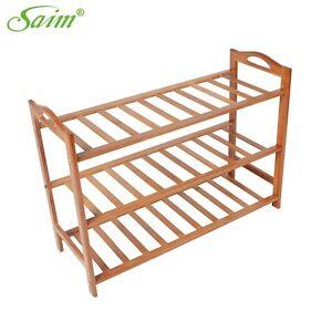Bamboo Shoe Rack 3-Tier Entryway Shoe Shelf Closet Storage Box Stand Organizer