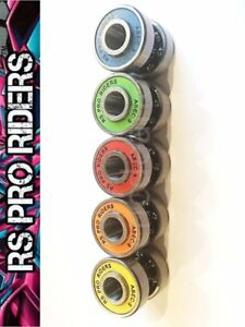 ABEC 9 XTREME SKATEBOARD AXLE SET 8 BEARINGS 4 SPACERS STICKER 8 SPEED RINGS