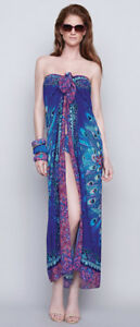 b18e691769 Image is loading GOTTEX-Collection-Exotic-Peacock-Sarong-Cover-Up-BNWT