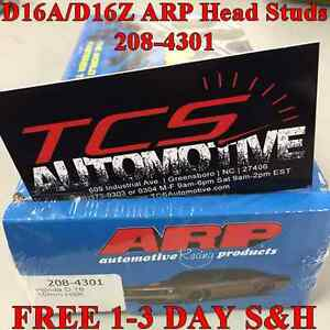 arp   head stud kit honda civic    da dz  ebay