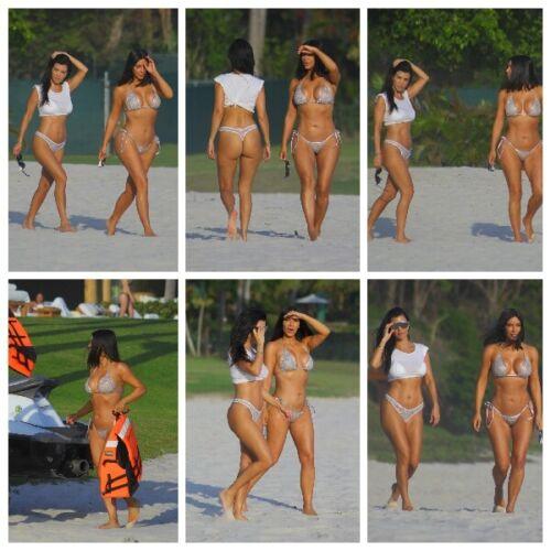 Kim /& Kourtney Kardashian Silver Bikini 8x10 Photo Your Choice Buy 2 Get 1 Free