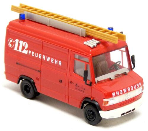 Herpa Umbau Eigenbau MB T2 609 D Feuerwehr rot neutral GW Gerätewagen oF 1:87 H0