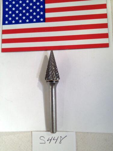 """DOUBLE CUT USA MADE 1 NEW FALCON // SGS 1//4/"""" SHANK CARBIDE BURR SM-5 S448"""