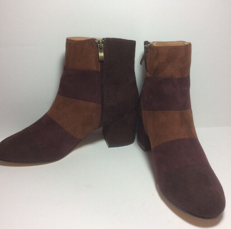 NWOT Urban Outfitters Janet Colorblock Suede Look Boot SZ 7