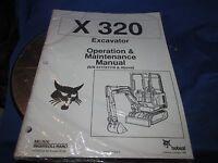 Bobcat X320 Mini Excavator Operation & Maintenance Manual Ingersol Rand