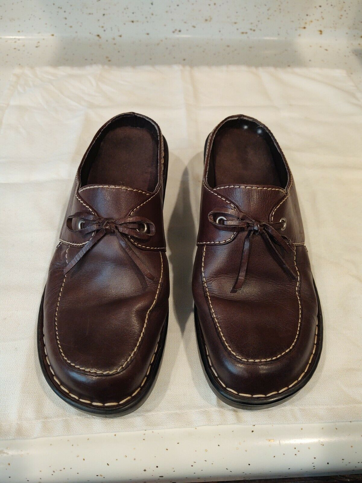 Eurostep Santa Ana Mule Clog Shoes Women's 9M Leather Upper