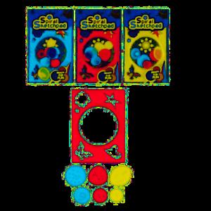 7 Pieces Spiral Sketchpad Stencils Party Art Draw Sketch Geometric Designs 5026619652312 Ebay