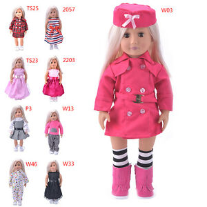 Hot-Madame-Handmade-fashion-Doll-Clothes-dress-For-18-inch-Girl-DolNJ