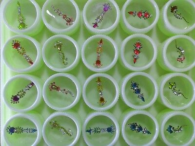 20 crystal bindis bindi hair dot tattoo body jewel sticker tilak potu tikka art