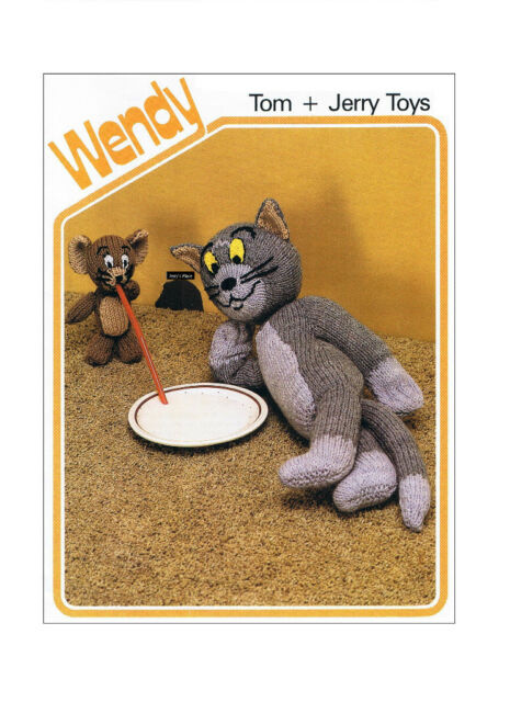 Tom and Jerry Toys Cartoon Characters Vintage Knitting Patterns ...