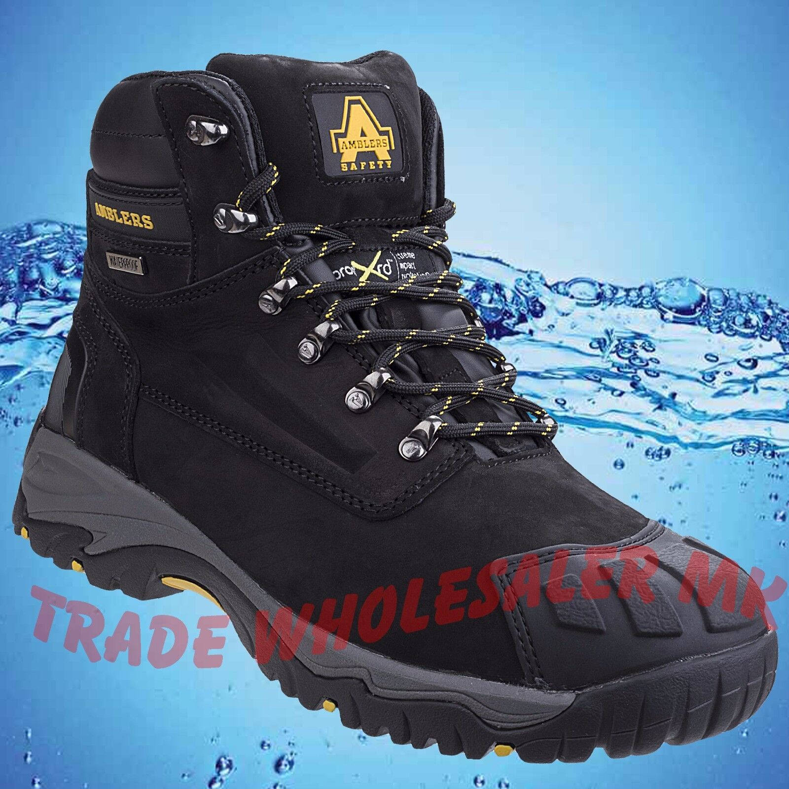MENS WATERPROOF SAFETY BOOTS Amblers Steel Toecap SAFETY FS987