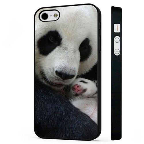 Oso Panda Cachorro Madre Bebé Negro Teléfono Estuche Cubierta se adapta iPhone