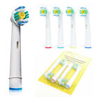 4 pc Toothbrush Heads Replacement Tooth Brush Braun Oral B 3D Pro White