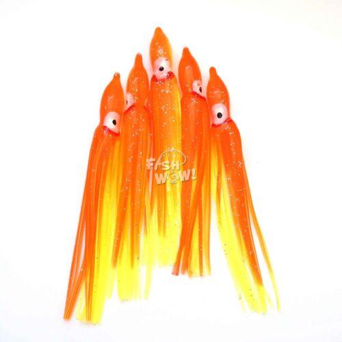 "1,20,30,60-120pc 4.75/"" Fishing Squid Skirts Octopus Trolling Hoochies Lure lot"