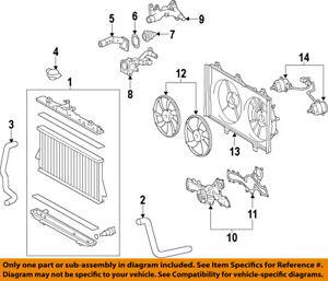 toyota oem 14-15 highlander-engine cooling fan motor 163630p330 | ebay  ebay