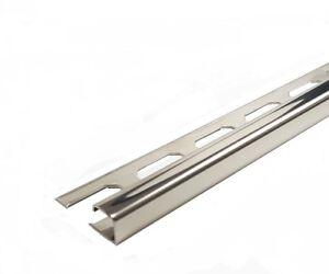 Quadro profilo in acciaio inox v a brillante guida piastrelle