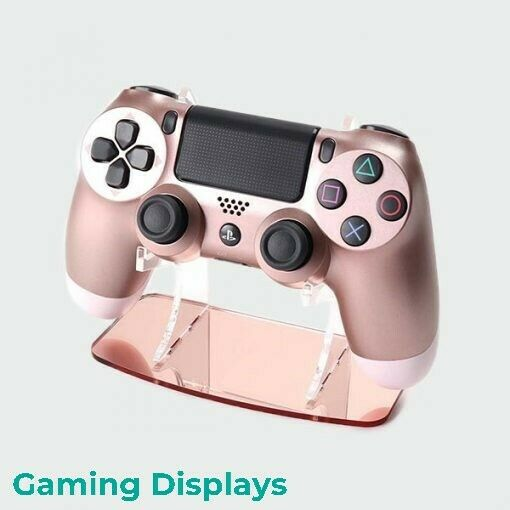 Rose Gold PlayStation 4 Controller Stand - Colour Matched - Acrylic Display PS4