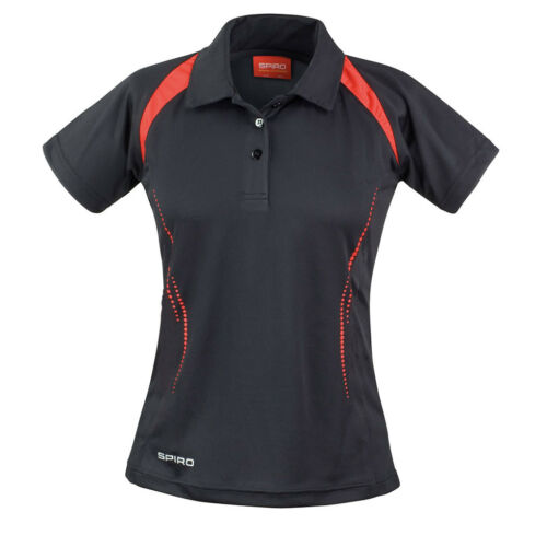 Spiro Ladies/' Team Spirit Polo Shirt Lightweight Hockey Tennis Gym Top S177F
