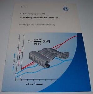 Selbststudienprogramm-VW-Schaltsaugrohre-der-VR-VR6-Motoren-SSP-212-12-1998