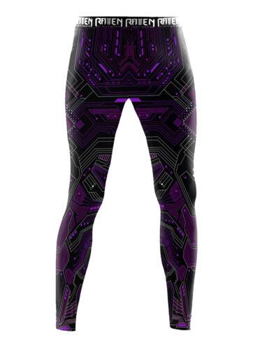 Raven Fightwear Men/'s Cybernetic Leggings Spats MMA BJJ Purple
