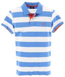 Gant Herren Polo Poloshirt Shirt Gr.S gestreift Blau 115938