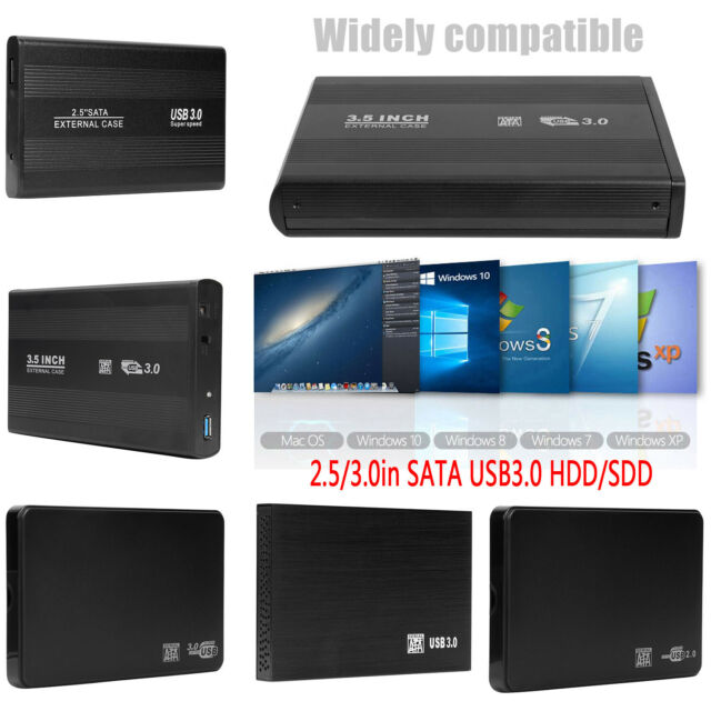 "USB External Portable ATA IDE 2.5/"" Hard Drive Enclosure Case"