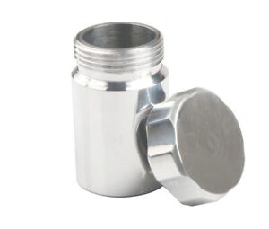 "1-1/2"" 33mm/ 38mm Aluminum Weld-On Filler Neck+Cap Fuel Oil Oveflow Tank Natural"